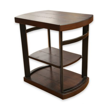 distressed wood end table - Distressed End Tables