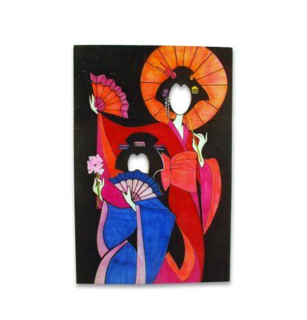 Face Cut Out Geisha Ladies