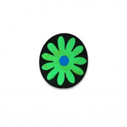 Flower Medallion Green and Blue