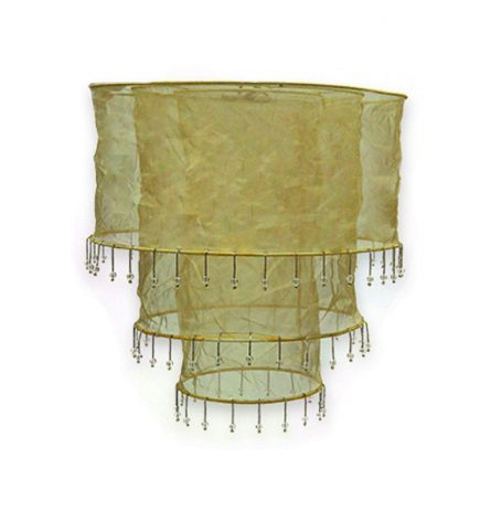 gold Triple Tier Chiffon lampshade