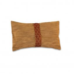Gold With Red Ribbon Pillow Cover