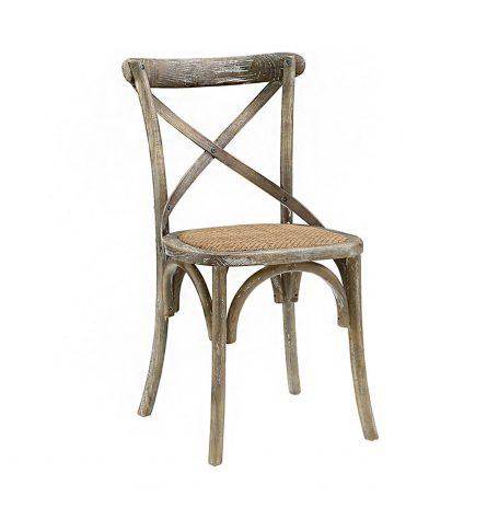 Grey Cross Back Chair