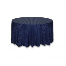 Imperial Stripe Tablecloth Navy Blue
