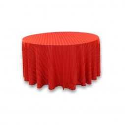 Imperial Stripe Tablecloth Red