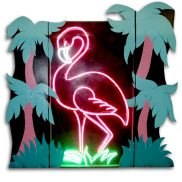 Light Box Neon Flamingo