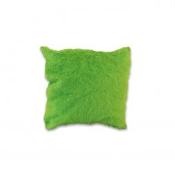 Lime Green Faux Fur Pillow Cover