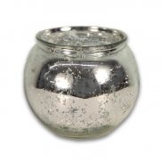 Mercury Silver Glass Bowl