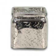 Mercury Silver Glass Cube