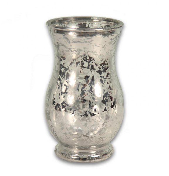 Silver Mercury Glass Vase Rental Pri Productions Inc