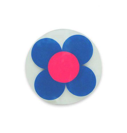 Neon Blue Daisy Disc