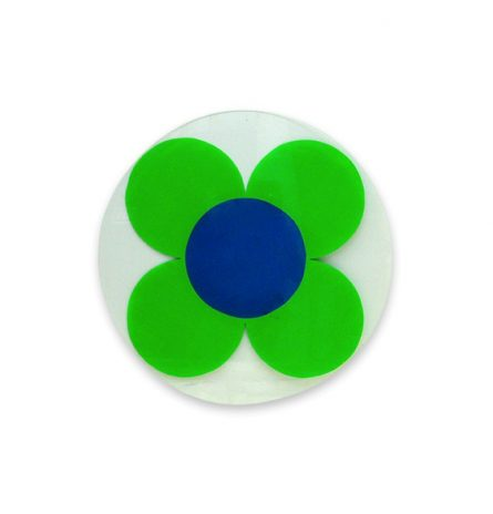 Neon Green Daisy Disc