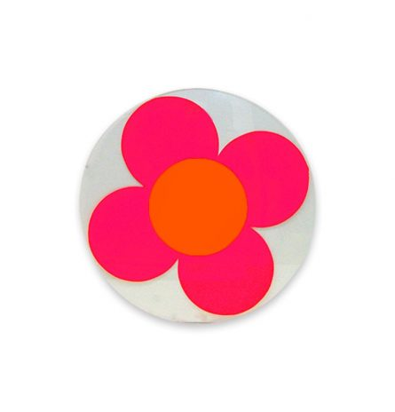 Neon Pink Daisy Disc