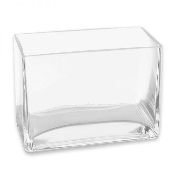 Rectangular Clear Glass Vase Rentals Pri Productions Inc