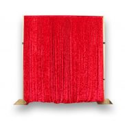 Red Crushed Velour