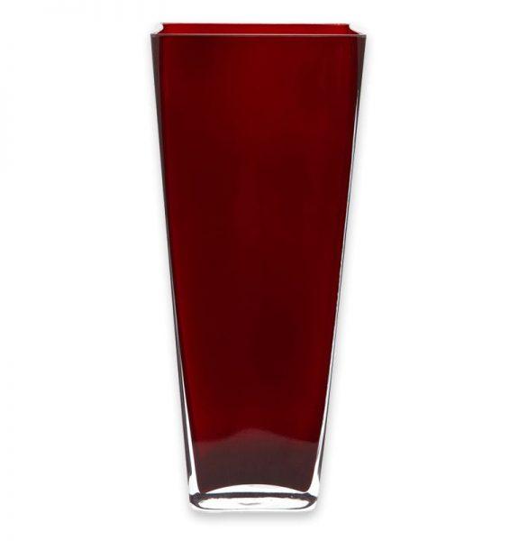 Red Square Vase Centerpiece Rental Pri Productions Inc