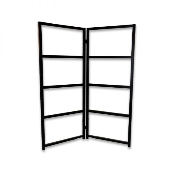 Room Divider Black Framed Glass Rental PRI Productions Inc