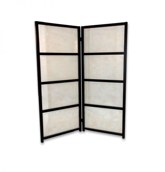 Room Divider - Black Frame Frosted Glass - Rental   PRI Productions ...