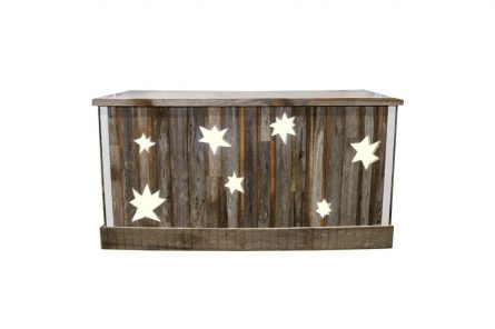 Rustic Light Up Star Bar Rental