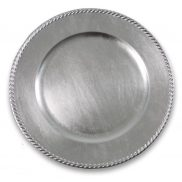 Silver Braided Rim Charger Plate