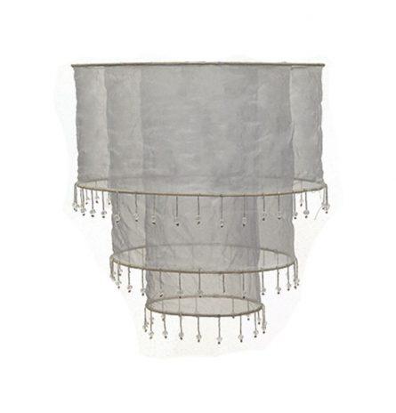 Silver Triple Tier Chiffon lampshade