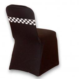 Spandex Chair Band B/W Checkered