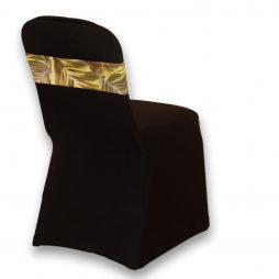 Spandex Chair Band Tropical Leaf Print