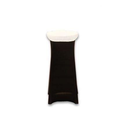 Spandex Stool Cap White