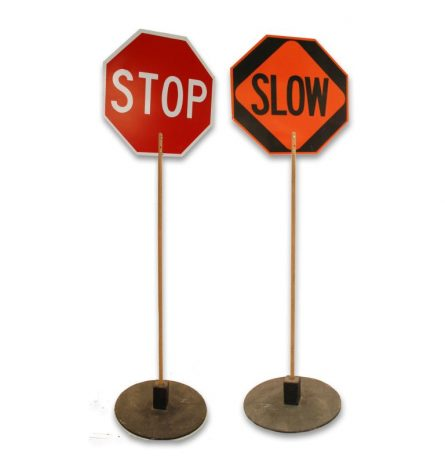 Stop and Slow Signs
