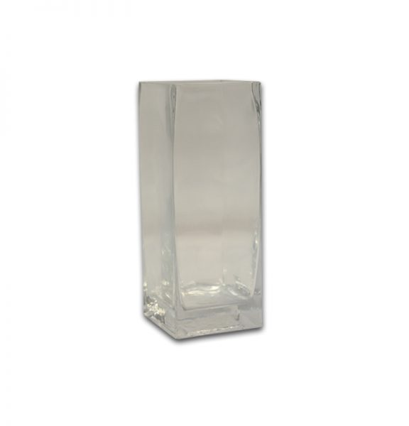 Tall Square Glass Vase Rentals Pri Productions Inc