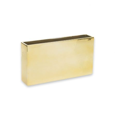 Urban Metallic Gold Rectangular Vase