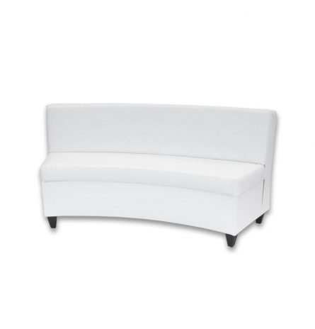 Marvelous White Leather Curved Sofa Rental Pri Productions Inc Caraccident5 Cool Chair Designs And Ideas Caraccident5Info