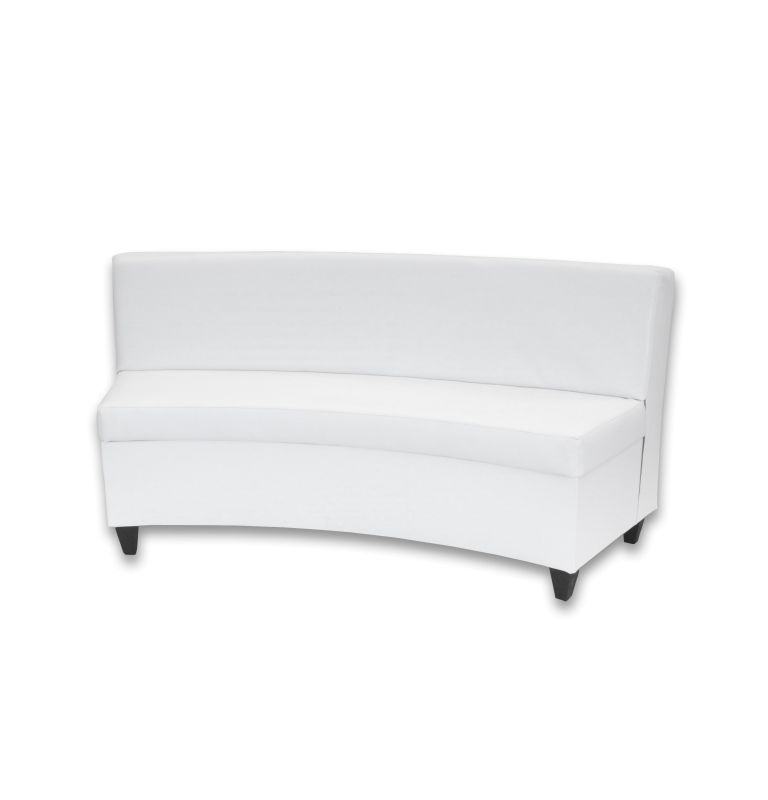 White Leather Curved Sofa Www Gradschoolfairs Com