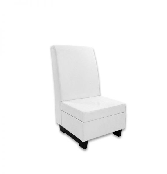 white leather highback chair rental pri productions inc