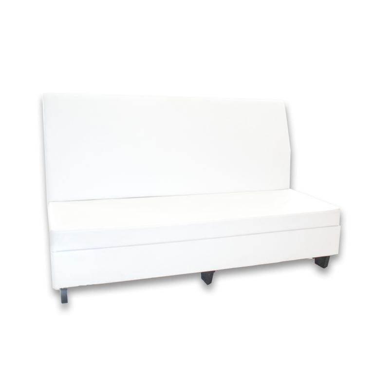 white leather highback couch center rental pri productions inc