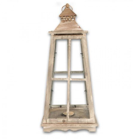 Whitewash Lantern Large