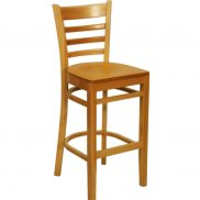 Wooden Highback Stool