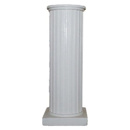 Round White Corinthian Column