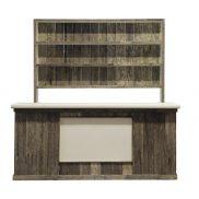 Distressed wood bar