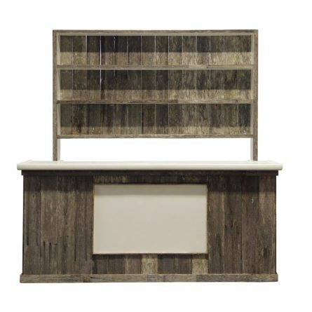 Distressed wood bar