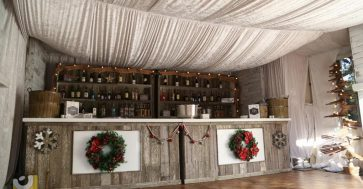 Jacksonvill Event Rental - Distressed Wood Bar