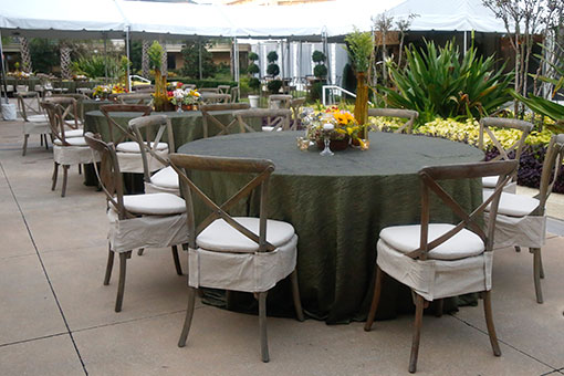 Jacksonville, FL Event Rentals Linens and Chair Decor