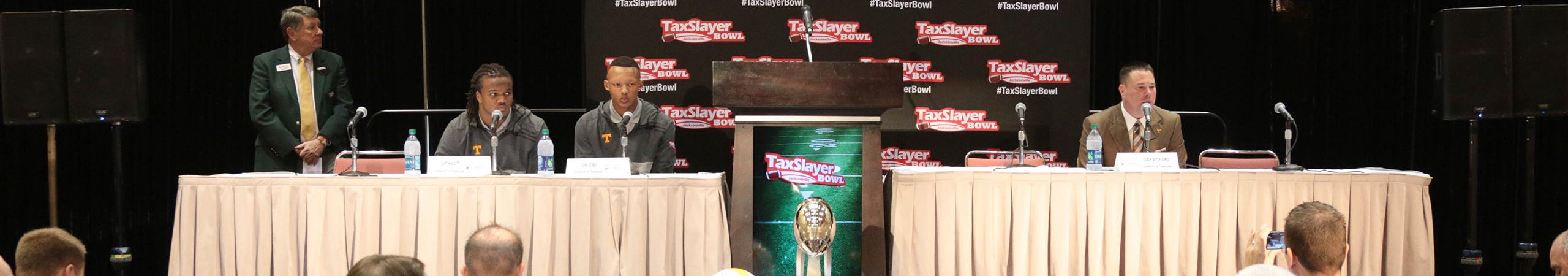 TaxSlayer Bowl Press Conference