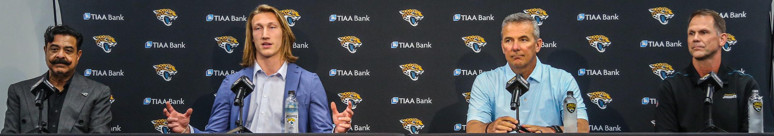 Jacksonville Jaguars Press Conference – Trevor Lawrence and Travis Etienne